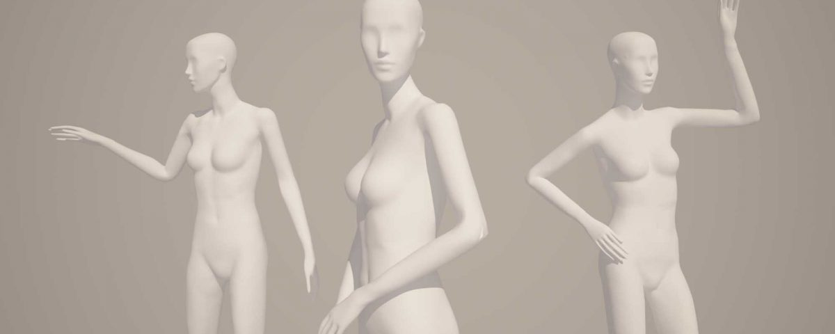 Our digitised mannequin poses
