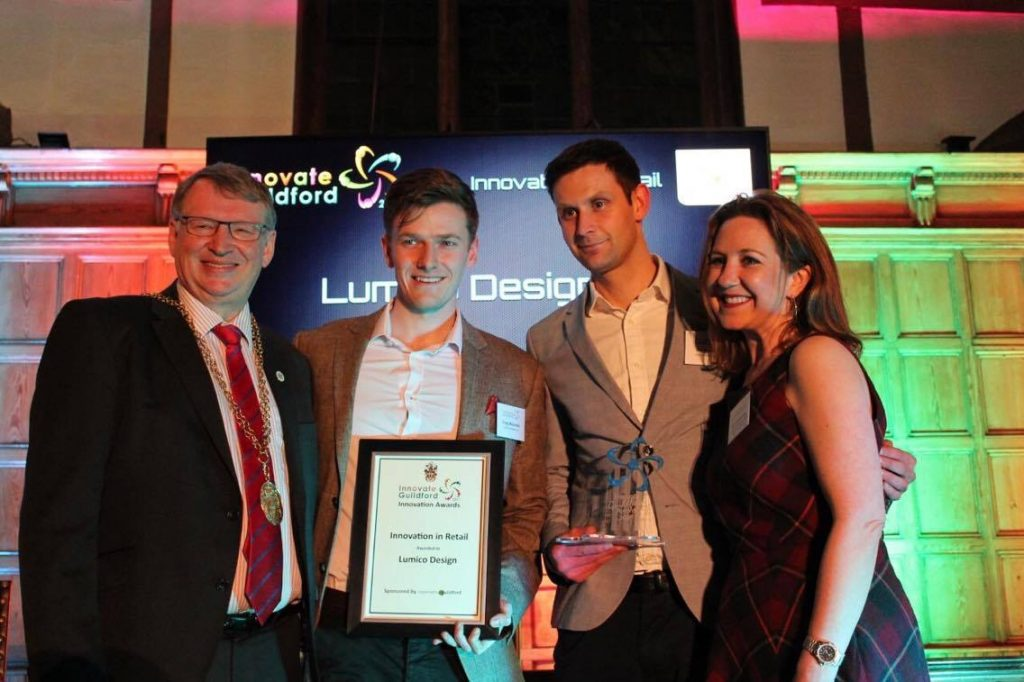 LumicoDesign winning the Guildford Innovation Award